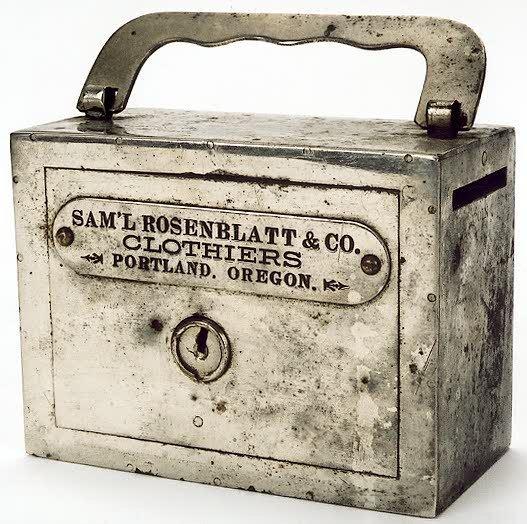 "14: COLLECTIBLE ""HAND BAG"" SAVINGS BANK advertising the"