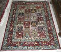 235 PERSIAN BIRJAND GARDEN AREA RUG Framed within a r