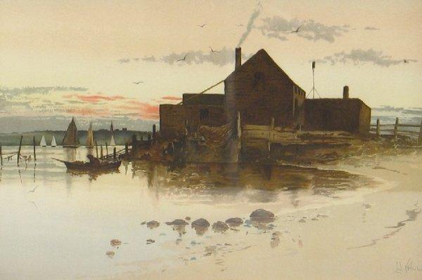 13: LOUIS KENNEY HARLOW (Boston, Mass. 1850-1930) Water