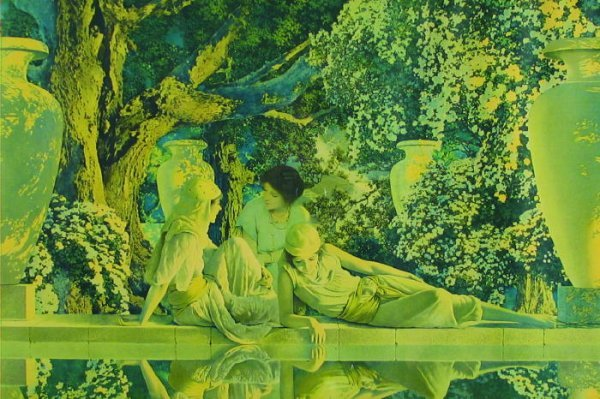 """23: MAXFIELD PARRISH COLOR PRINT """"The Garden of Allah"""","""