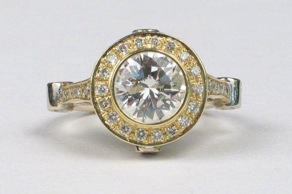 761: LADY'S DIAMOND AND FOURTEEN KARAT WHITE AND YELLOW