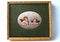 808 KPM PORCELAIN OVAL PLAQUE late 19thearly 20th ce