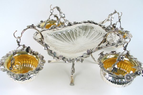 787: SUPERB STERLING SILVER CENTERPIECE in the 18th cen