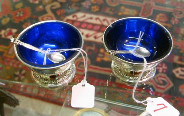 7: PAIRS OF INTERNATIONAL STERLING SILVER SALTS AND GEO