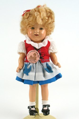1: AN ORIGINAL SHIRLEY TEMPLE DOLL, 11 in. The jointed