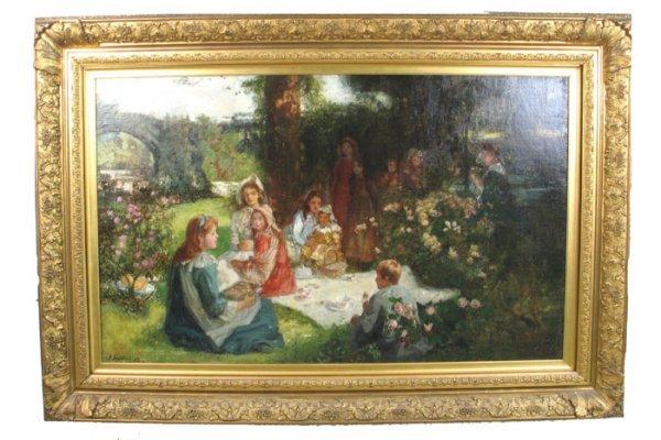 724: JOHN LOCKHEAD (British, 1866-1921). Oil on canvas