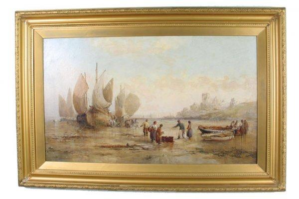 "755: WILLIAM WEBB (British, 1862-1903) Oil on canvas ""N"