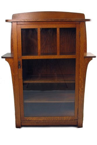 16: LIMBERT MISSION OAK CHINA CABINET NO. 452, Charles