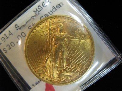 1: U.S. TWENTY DOLLAR GOLD COIN, St. Gaudens type,  191