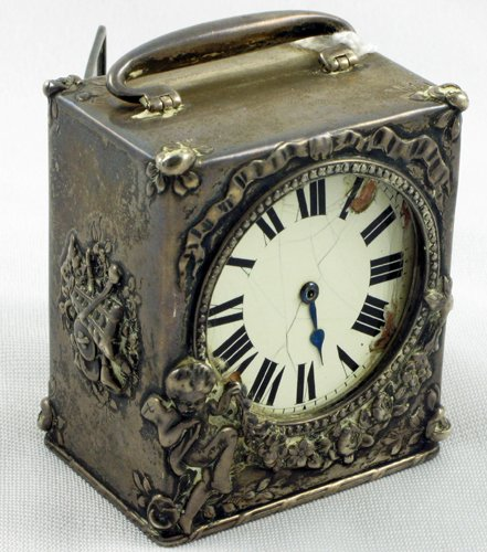 2: TIFFANY AND CO. STERLING SILVER CASED TRAVEL  CLOCK.