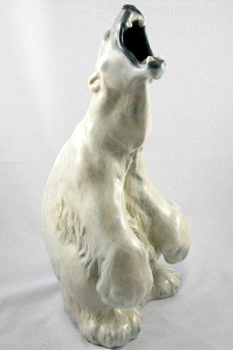 24: A ROYAL COPENHAGEN GLAZED PORCELAIN POLAR BEAR  FIG