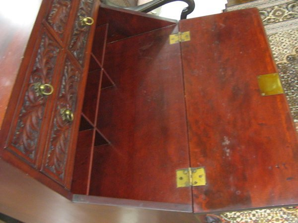 25: CHIPPENDALE STYLE MAHOGANY WRITING DESK,  American, - 3