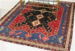 117 PERSIAN SIRJAN AREA RUG hand knotted in a three g
