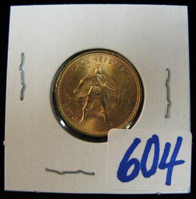 604: 1976 RUSSIAN CHEVRONETZ (TEN ROUBLES) GOLD COIN