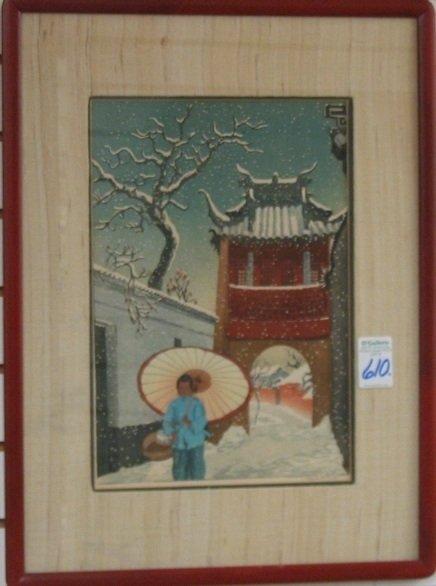 610: ELIZABETH KEITH (British, 1887-1956)  Color woodcu