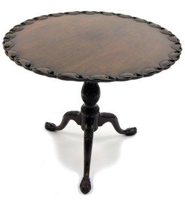 10: CHIPPENDALE REVIVAL MAHOGANY TILT-TOP TEA TABLE, Am