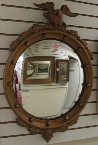 22: TWO AMERICAN WALL MIRRORS: the first a Federal  sty