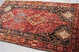 158 PERSIAN SHIRAZ AREA RUG geometric medallions  and