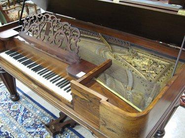208: A VICTORIAN SQUARE GRAND PIANO, Hallet & Cumston P - 2