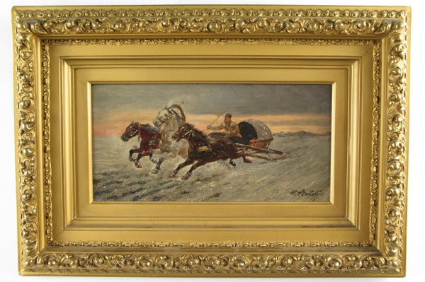 622: H. STOILOFF (Russian, 20th century)  Oil on panel