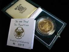645 1986 UNITED KINGDOM TWO POUNDS PROOF GOLD COIN XI