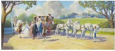 781: EDWARD B. QUIGLEY OIL ON MASONITE