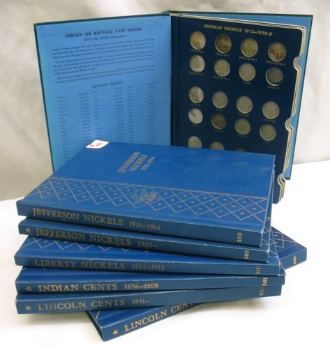 4: SEVEN WHITMAN FOLDERS containing U.S. coins:  approx