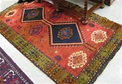 273 PERSIAN SHIRAZ AREA RUG double geometric  medalli