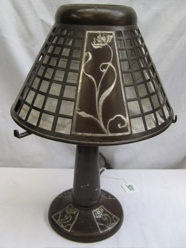 301: AN ARTS AND CRAFTS PERIOD COPPER TABLE LAMP  overl