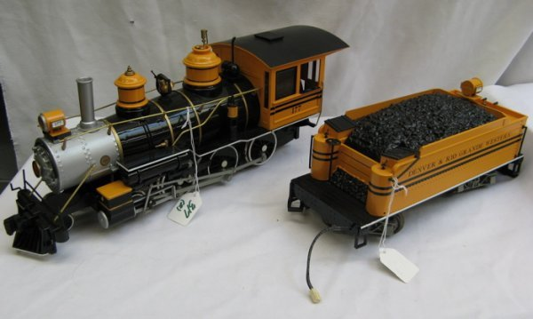 """317: BACHMANN """"G"""" SCALE STEAM LOCOMOTIVE 4-6-0 AND  MAT"""