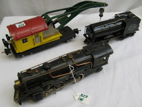 323: AMERICAN FLYER STEAM LOCOMOTIVE, O gauge, with  fo