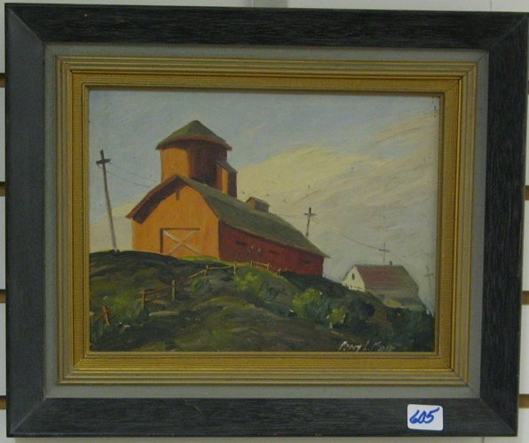 605: PERCY L. MANSER (Oregon, 1886-1973)  Oil on panel