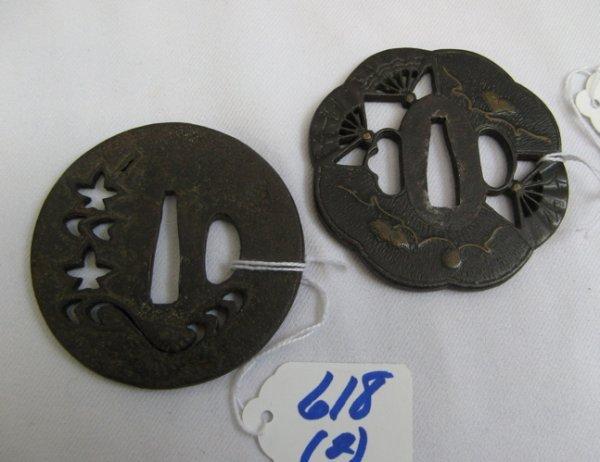 618: TWO JAPANESE TSUBA, late Edo/early Meiji  Periods: