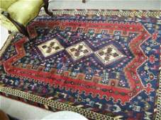 637 PERSIAN SIRJAN AREA RUG centering a column of  th