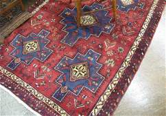 844 PERSIAN SIRJAN AREA RUG the red field featuring a