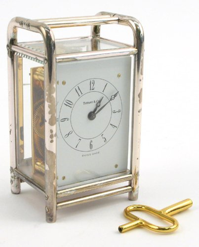 1: TIFFANY & COMPANY MINIATURE CLOCK, Swiss  movement,