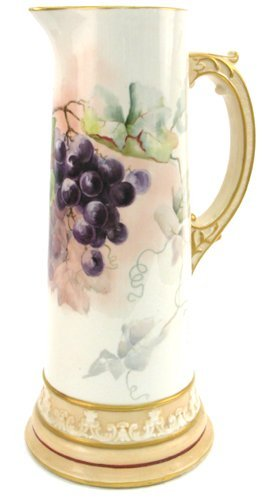 15: WILLETS BELLEEK HAND PAINTED PORCELAIN TALL  PITCHE