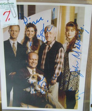 """7: COLOR PHOTO AUTOGRAPHED BY THE CAST OF """"FRASIER"""""""