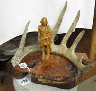 318: ART MCKELLIPS, native American, 20th century  Hand