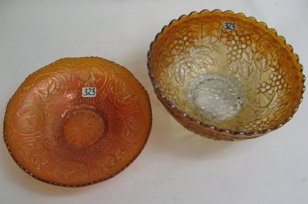 323: TWO AMERICAN MARIGOLD CARNIVAL BOWLS. One in a  vi
