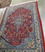 524 SIGNED PERSIAN AREA RUG hand knotted in a  centra