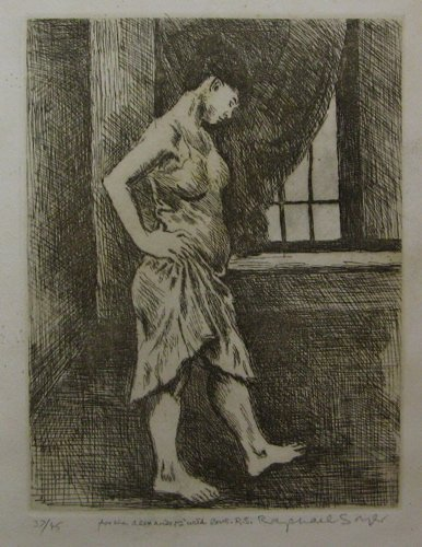 622: RAPHAEL SOYER (New York, 1899-1987)  An original e