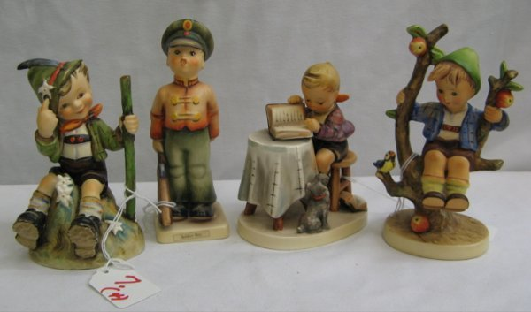 "7: FOUR COLLECTIBLE HUMMEL FIGURINES: ""Soldier Boy"", H"