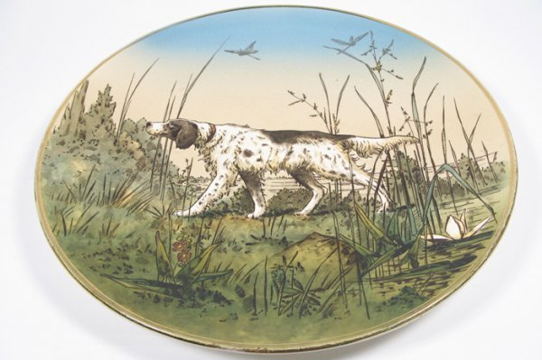 21: METTLACH POTTERY ROUND WALL PLAQUE by Villeroy & Bo