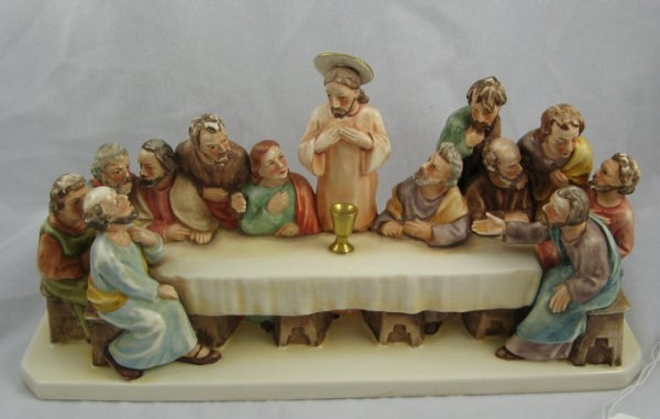 "313: 313: GOEBEL GERMAN FIGURAL GROUP, ""The Last Supper"