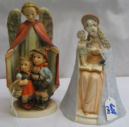 608: 608: TWO HUMMEL FIGURINES: Madonna and Child in co