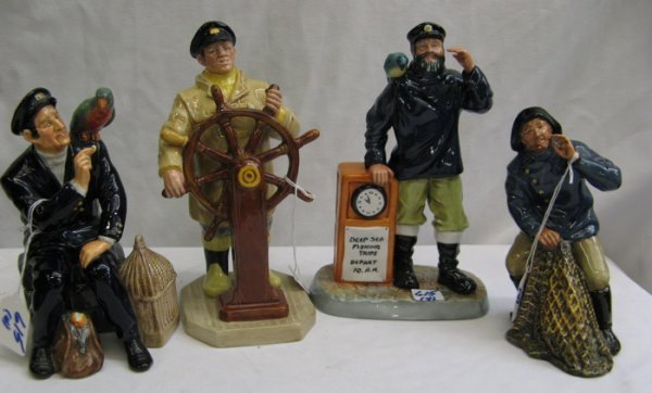 615: 615: FOUR ROYAL DOULTON FIGURINES with nautical th