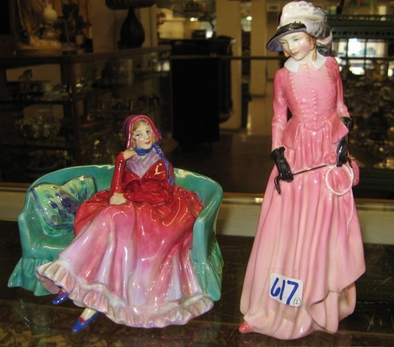 """617: 617: TWO ROYAL DOULTON FIGURES: """"Reflections"""", HN"""