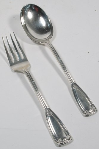 621: 621: TIFFANY & COMPANY STERLING SILVER MEAT FORK A