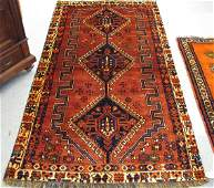 769 769 TWO HAND KNOTTED PERSIAN SHIRAZ AREA RUGS do